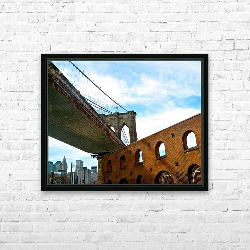 Old Fulton Street  HD Sublimation Metal print with Decorating Float Frame (BOX)