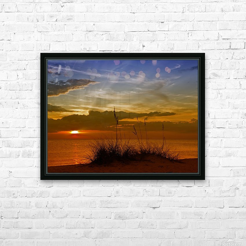 Gorgeous Sunset HD Sublimation Metal print with Decorating Float Frame (BOX)