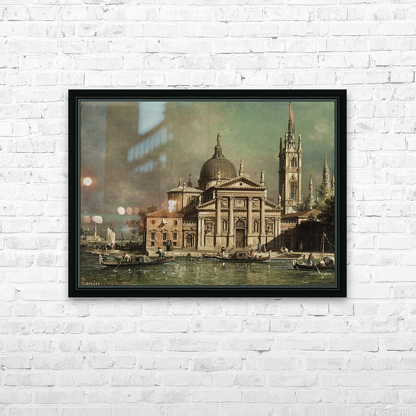San Giorgio Maggiore in Venedig HD Sublimation Metal print with Decorating Float Frame (BOX)