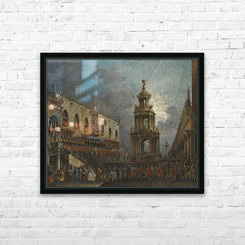 A view of the Piazzetta at Carnival, Venice HD Sublimation Metal print with Decorating Float Frame (BOX)