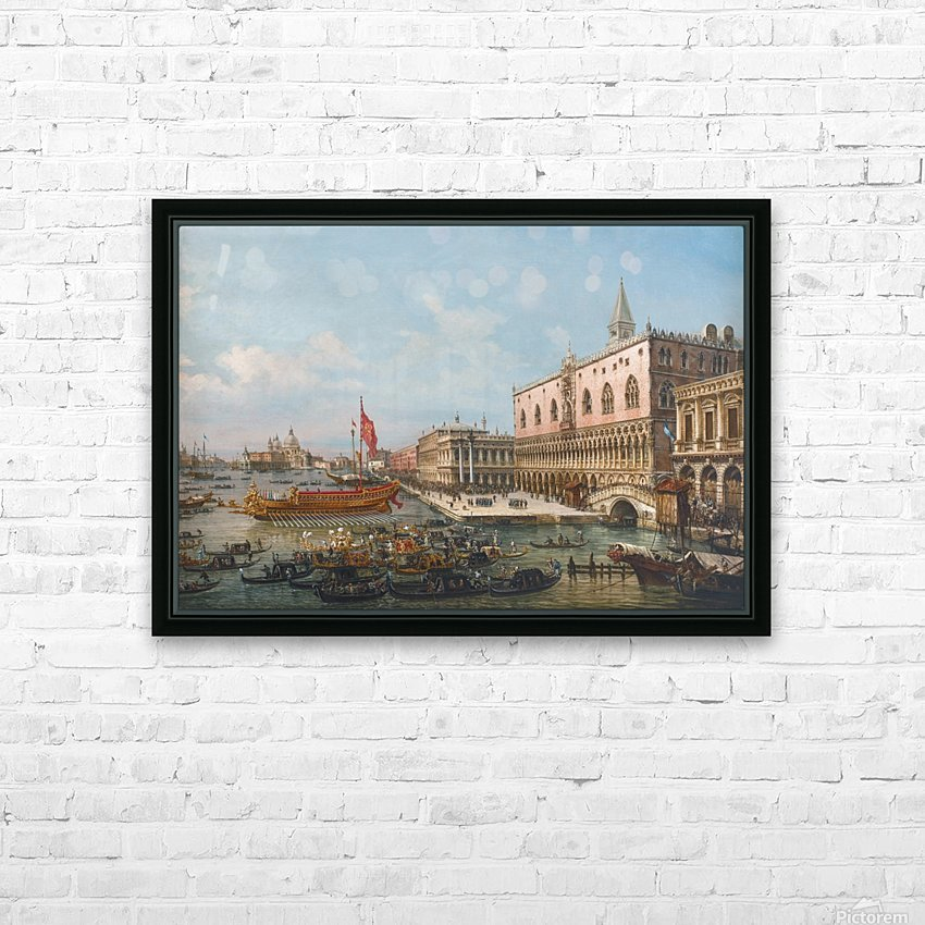 The Departure of the Bucintoro from San Marco to San Nicolo Del Lid HD Sublimation Metal print with Decorating Float Frame (BOX)