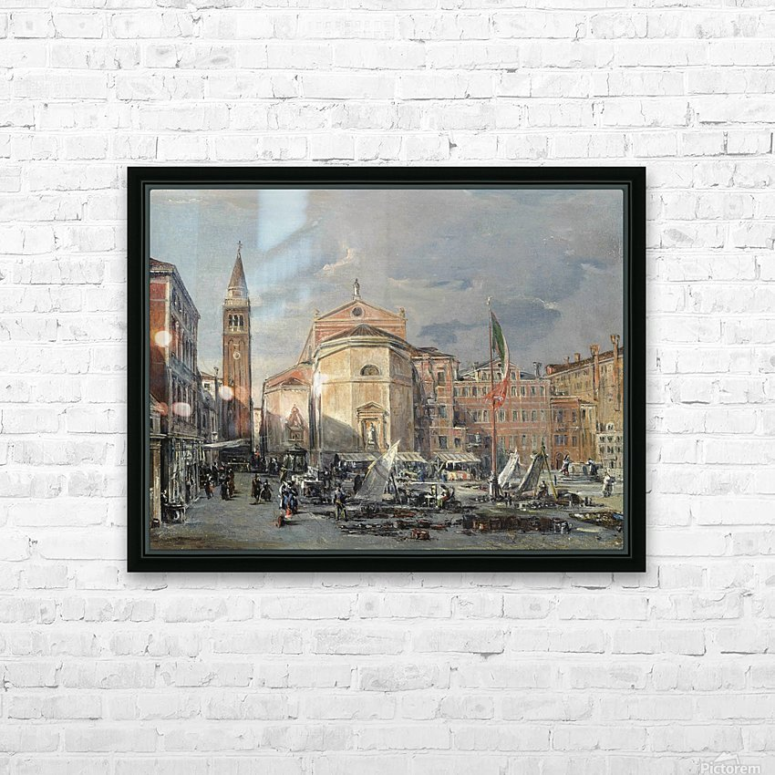 A Venetian square HD Sublimation Metal print with Decorating Float Frame (BOX)