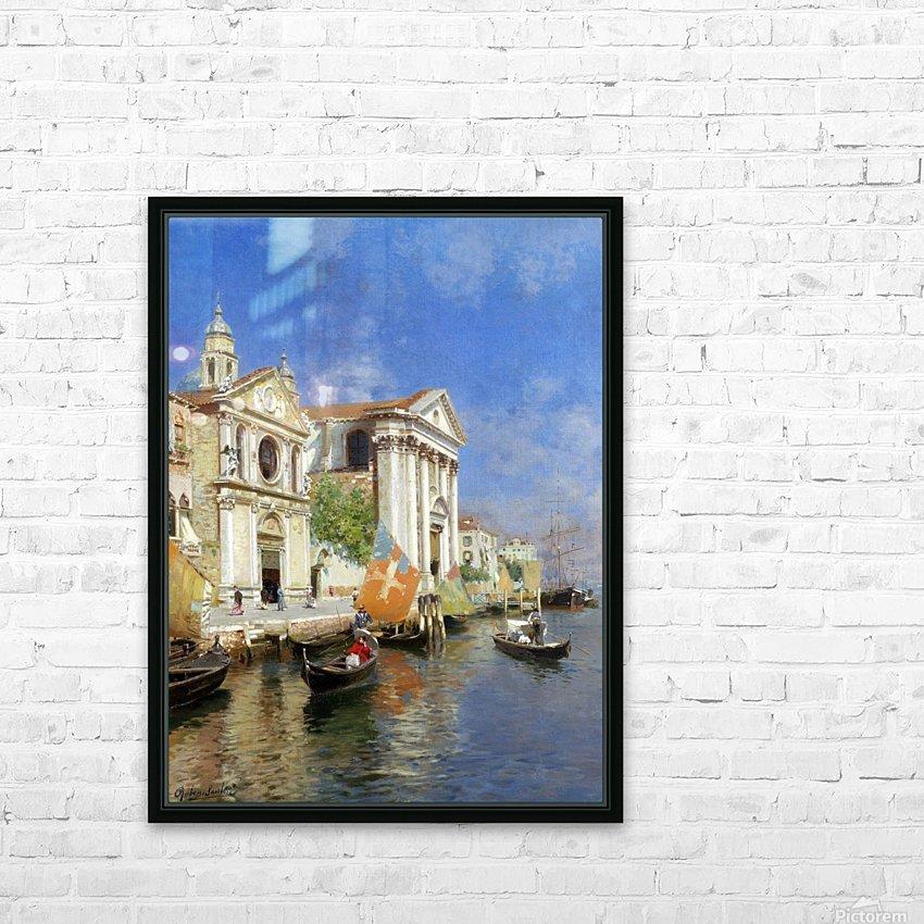 Riva degli Schiavoni HD Sublimation Metal print with Decorating Float Frame (BOX)