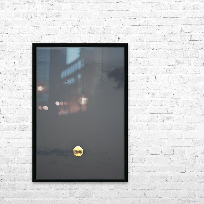 Clair de lune HD sublimation métal imprimé avec décoration flotteur cadre (boîte)