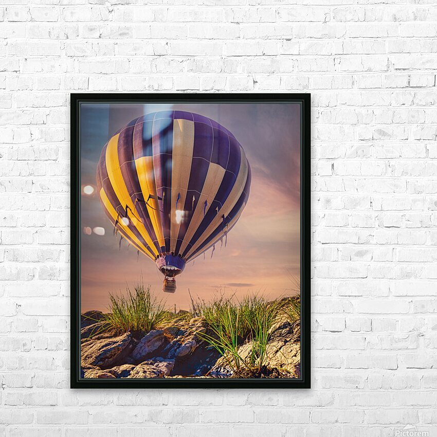 The Adventure Begins HD Sublimation Metal print with Decorating Float Frame (BOX)