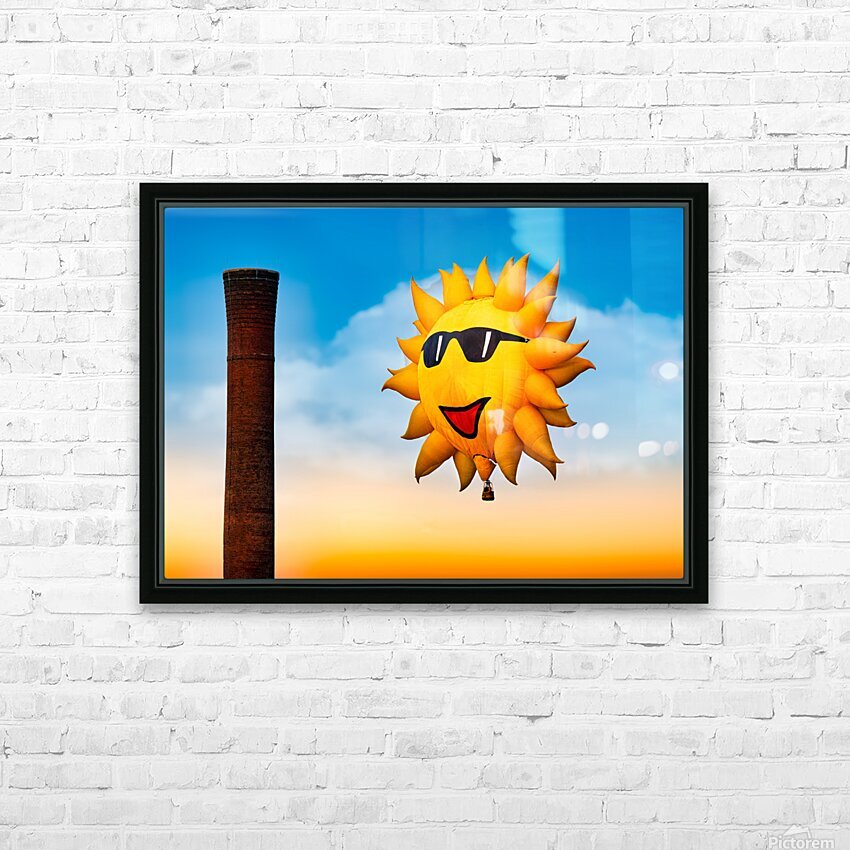 Sunny and the Smokestack HD Sublimation Metal print with Decorating Float Frame (BOX)