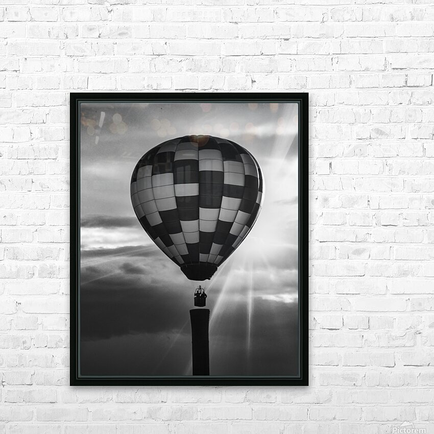 Hot Air Balloon On A Smokestack HD Sublimation Metal print with Decorating Float Frame (BOX)