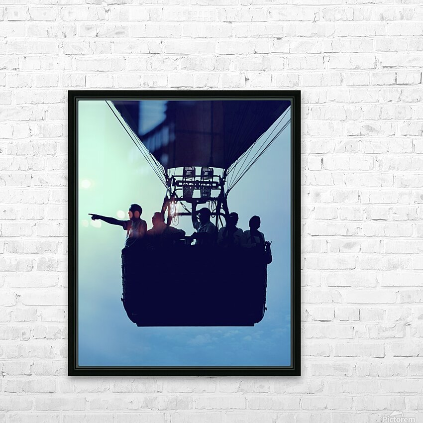 Basket Full Of Aeronauts HD Sublimation Metal print with Decorating Float Frame (BOX)