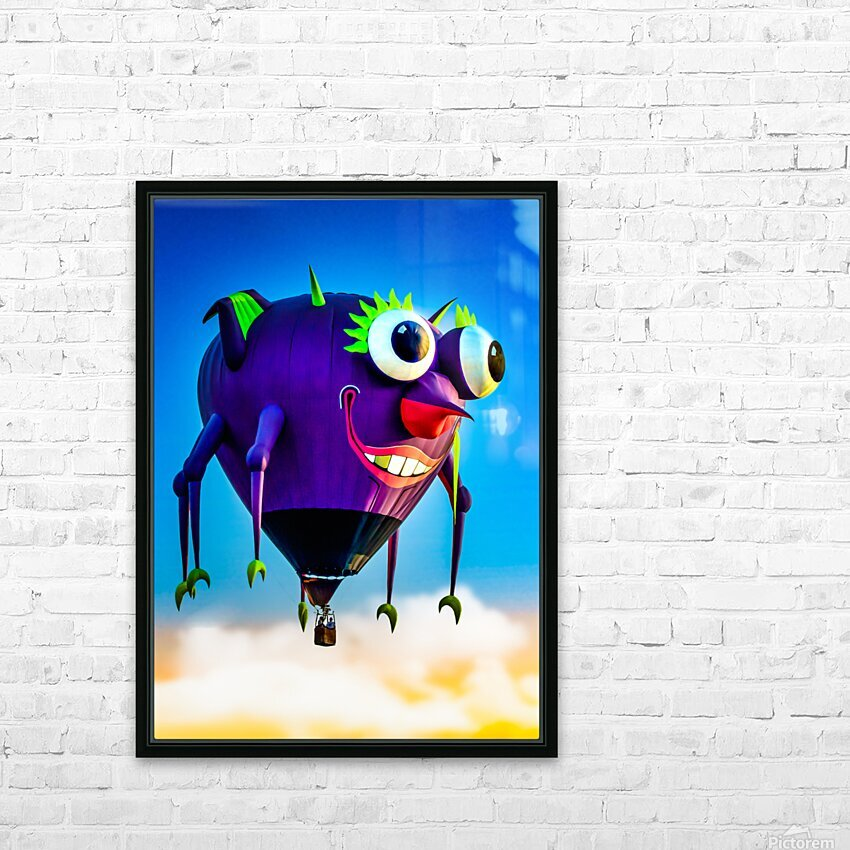 Flying Purple People Eater HD Sublimation Metal print with Decorating Float Frame (BOX)