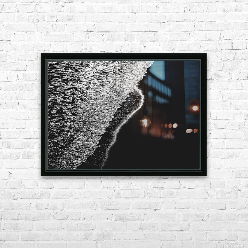 Moonlight Waves Revere Beach HD Sublimation Metal print with Decorating Float Frame (BOX)