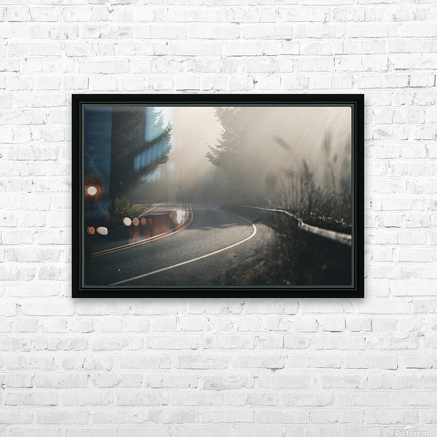 Pacific Coast Highway Mist HD Sublimation Metal print with Decorating Float Frame (BOX)