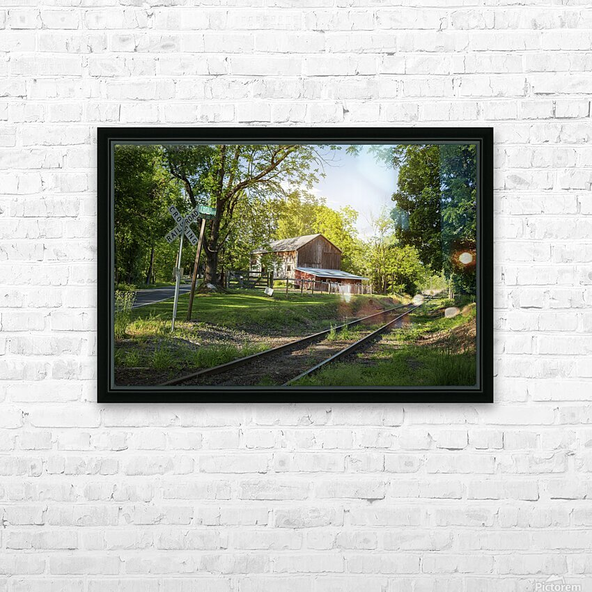 Country Life HD Sublimation Metal print with Decorating Float Frame (BOX)