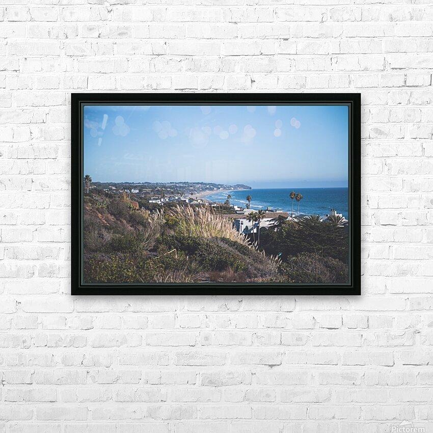 Malibu California HD Sublimation Metal print with Decorating Float Frame (BOX)