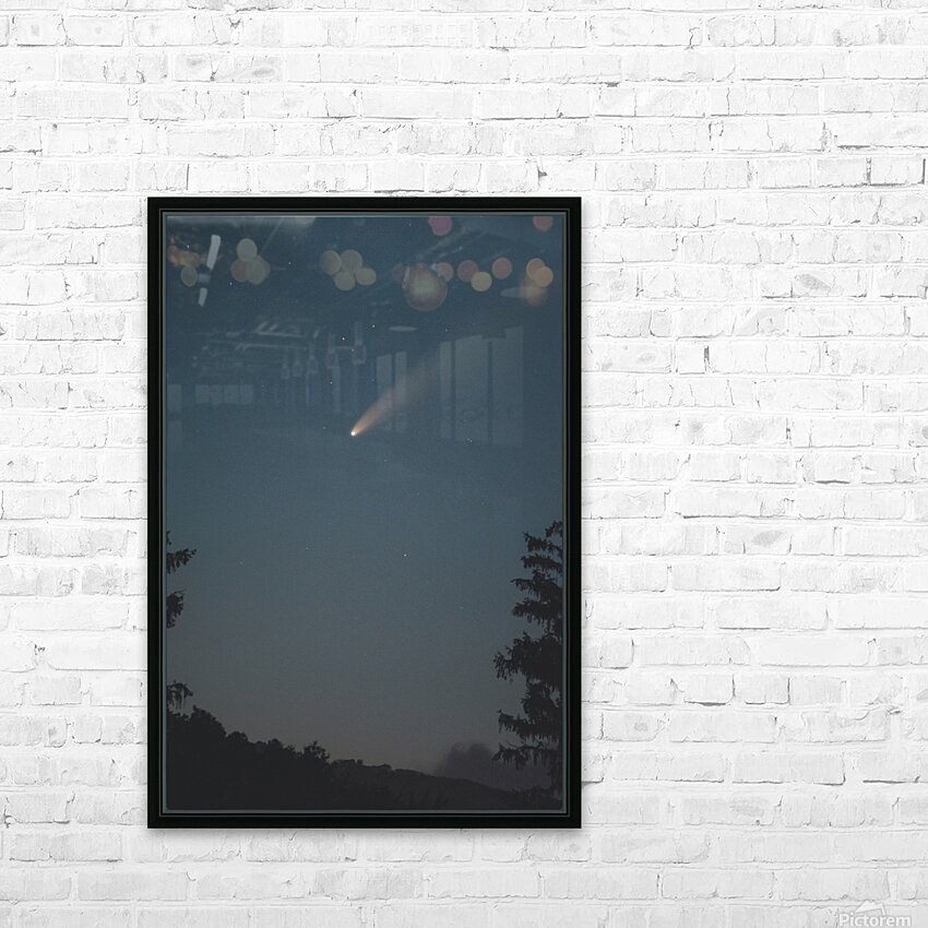 Comet NEOWISE HD Sublimation Metal print with Decorating Float Frame (BOX)
