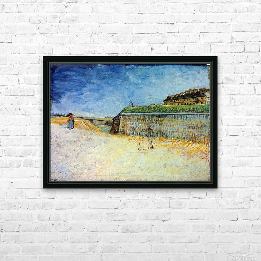 The Ramparts of Paris2 by Van Gogh HD Sublimation Metal print with Decorating Float Frame (BOX)
