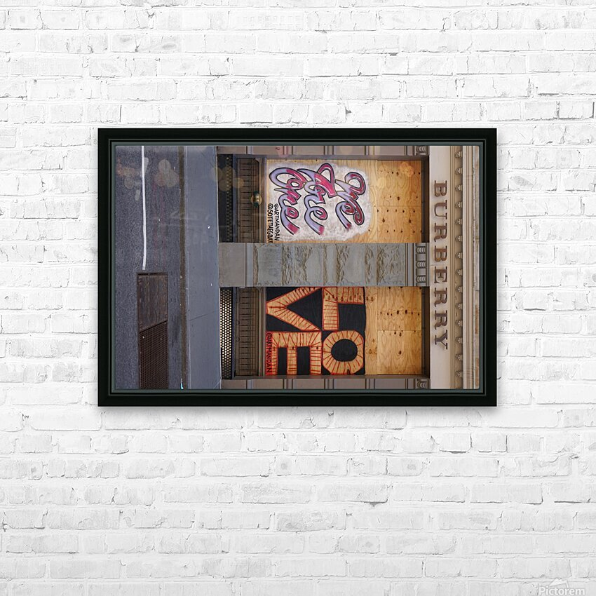 One Love  HD Sublimation Metal print with Decorating Float Frame (BOX)
