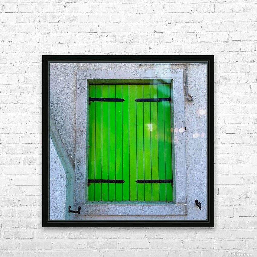 Windows of the World HD Sublimation Metal print with Decorating Float Frame (BOX)
