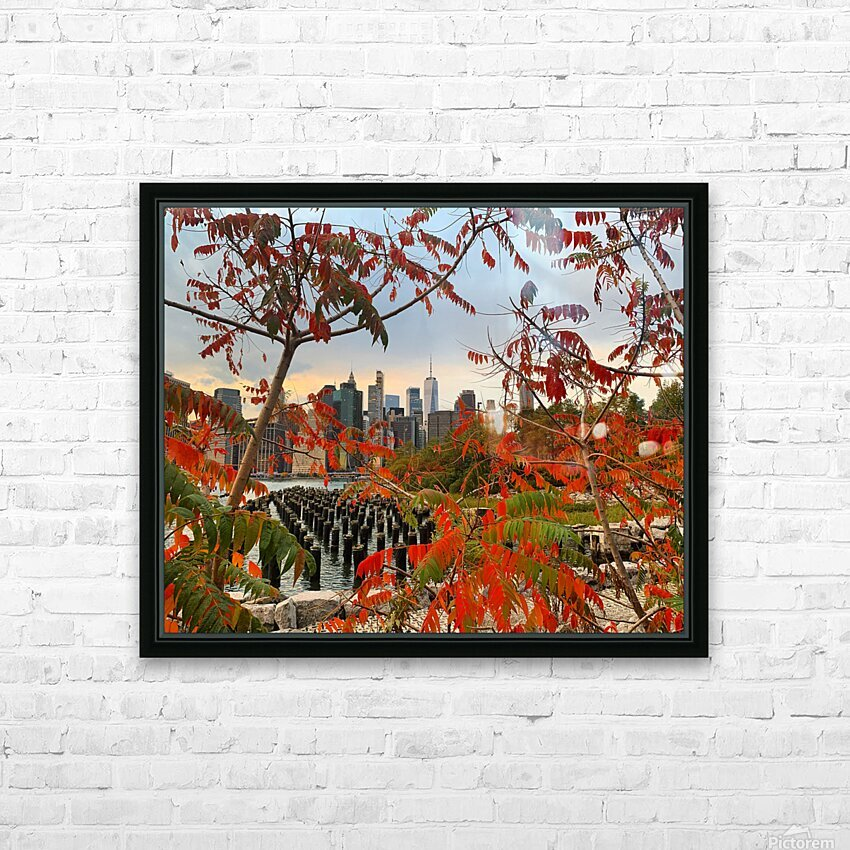 Autumn in New York  HD Sublimation Metal print with Decorating Float Frame (BOX)