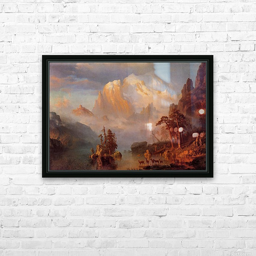 Rocky Mountains, 1866 HD Sublimation Metal print with Decorating Float Frame (BOX)