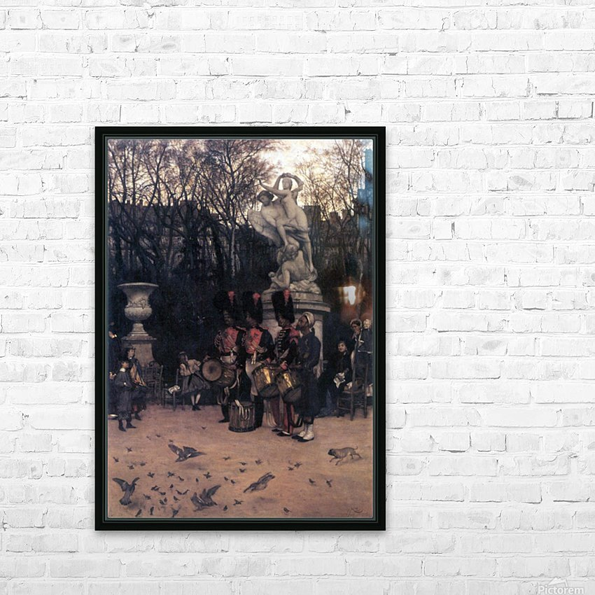The return march in the Tuileries by Tissot HD Sublimation Metal print with Decorating Float Frame (BOX)