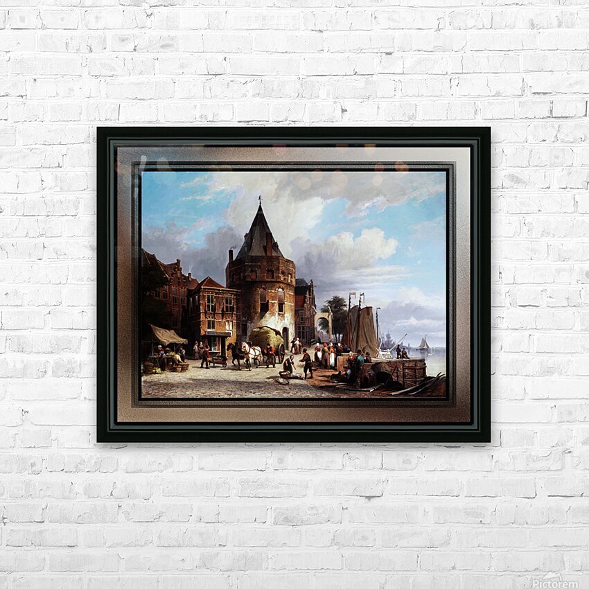 Schreierstoren by Willem Koekkoek Fine Art Old Masters Reproduction HD Sublimation Metal print with Decorating Float Frame (BOX)