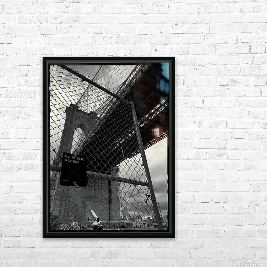 Do Not Enter HD Sublimation Metal print with Decorating Float Frame (BOX)