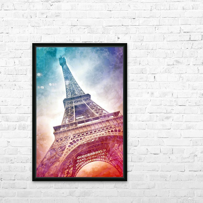 Modern-Art EIFFEL TOWER HD Sublimation Metal print with Decorating Float Frame (BOX)
