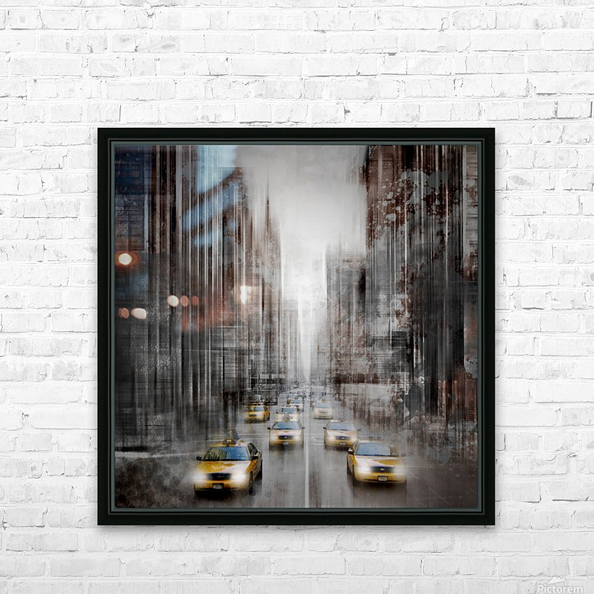 City-Art NYC 5th Avenue Traffic HD Sublimation Metal print with Decorating Float Frame (BOX)