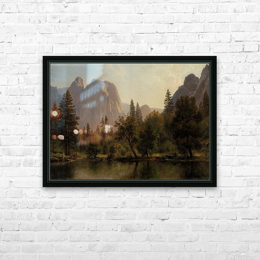 Among the Sierra Nevada, California, 1868 HD Sublimation Metal print with Decorating Float Frame (BOX)