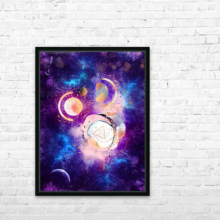 Dream Art XVIII - Cosmic World HD Sublimation Metal print with Decorating Float Frame (BOX)