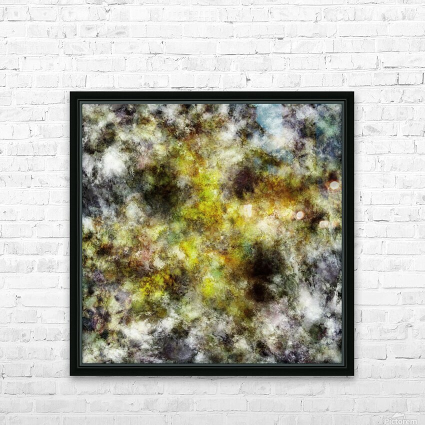 Heading into the yellow storm HD Sublimation Metal print with Decorating Float Frame (BOX)