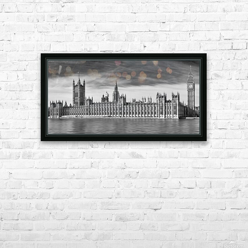 Houses Of Parliament HD Sublimation Metal print with Decorating Float Frame (BOX)