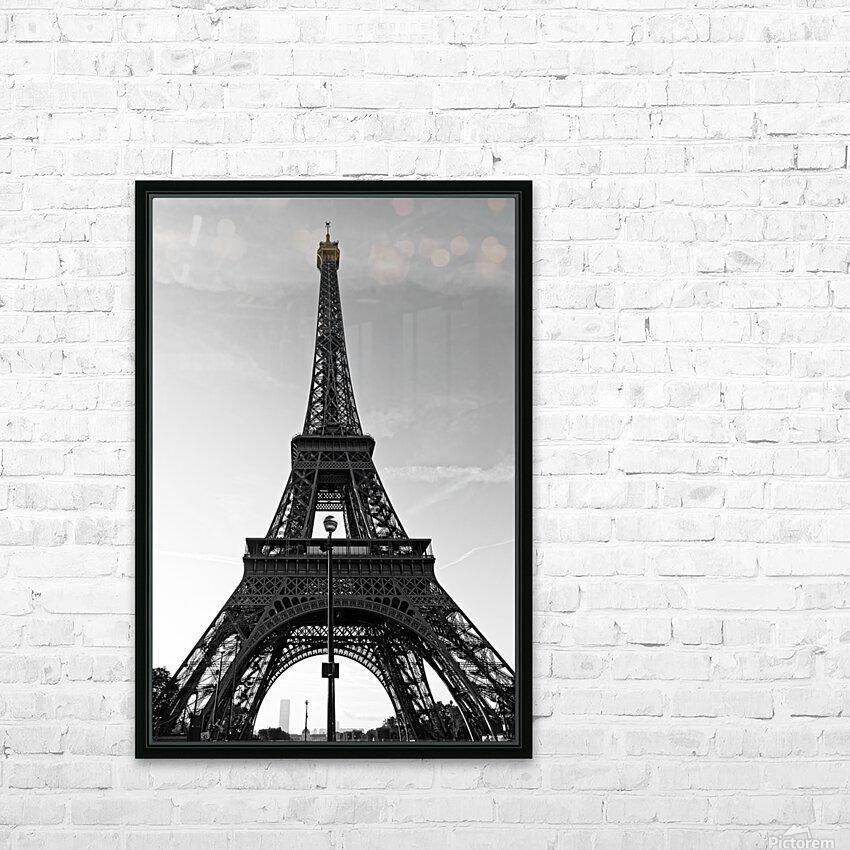 Eiffel tower in black  HD sublimation métal imprimé avec décoration flotteur cadre (boîte)
