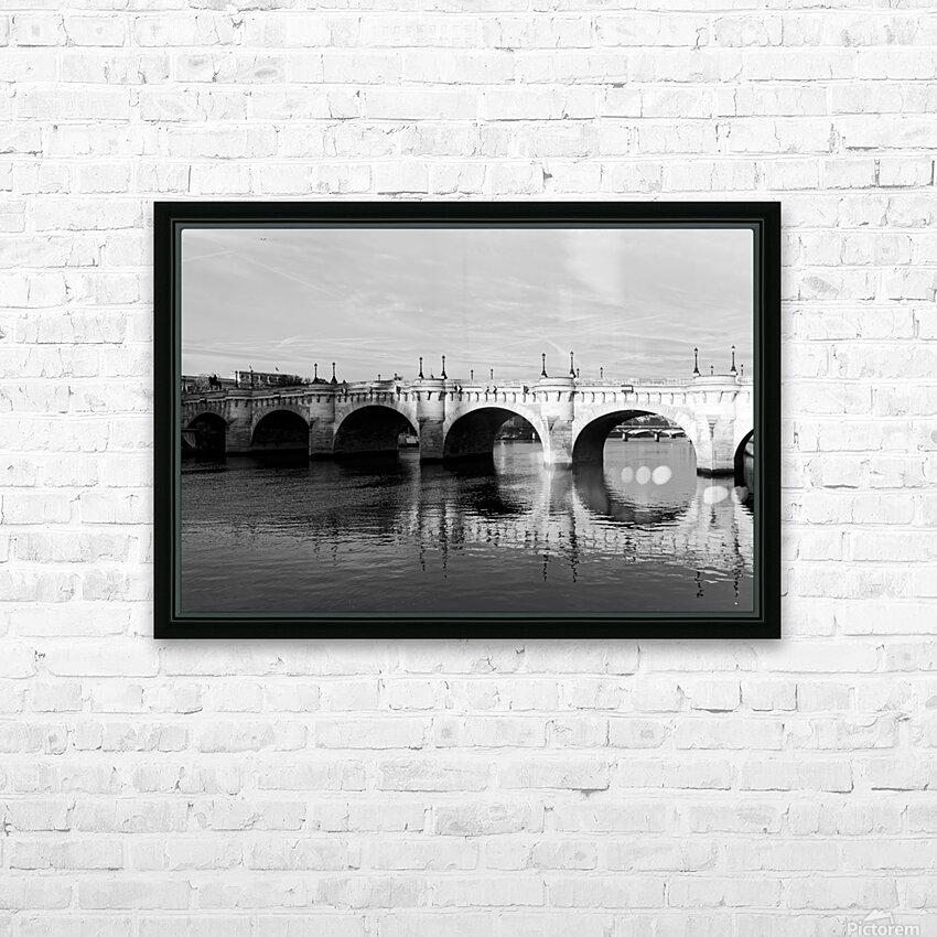 Pont Neuf Reflection HD sublimation métal imprimé avec décoration flotteur cadre (boîte)