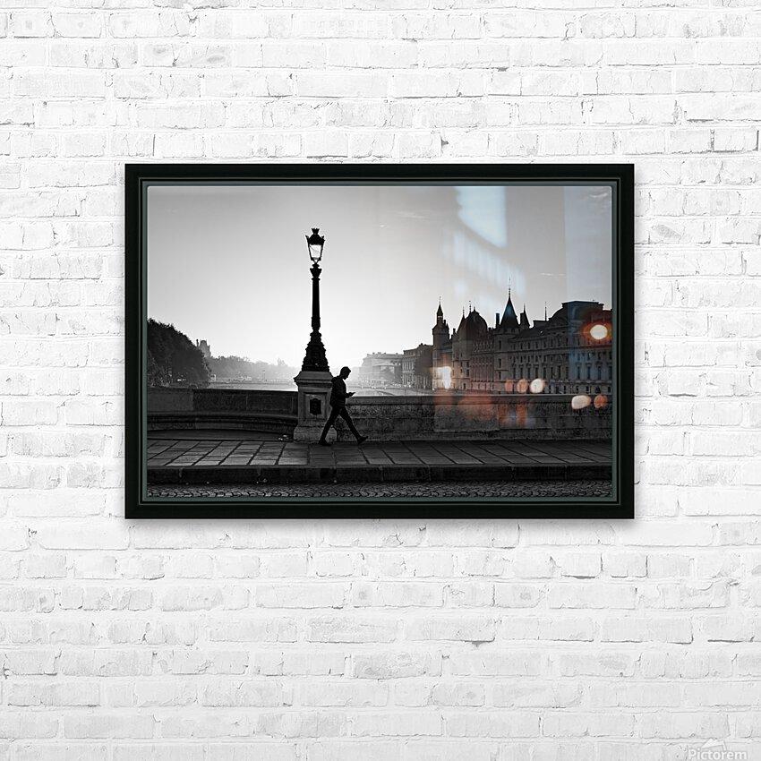 Walk and phone  HD sublimation métal imprimé avec décoration flotteur cadre (boîte)