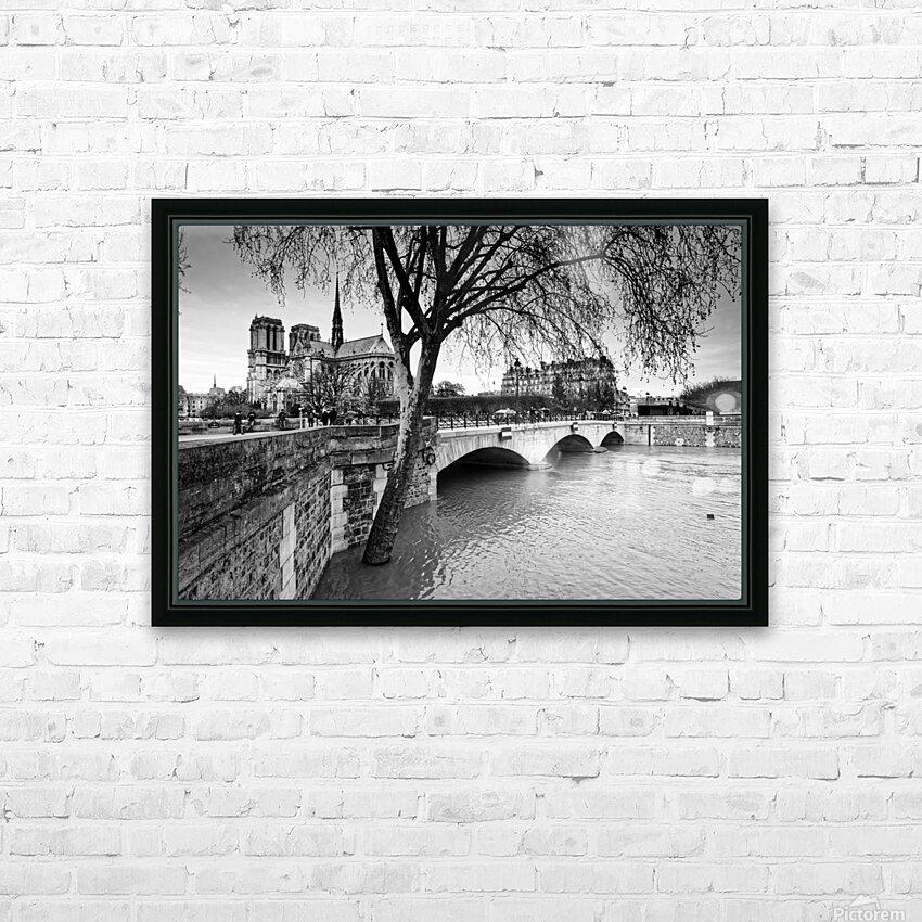 Seine river flood HD sublimation métal imprimé avec décoration flotteur cadre (boîte)