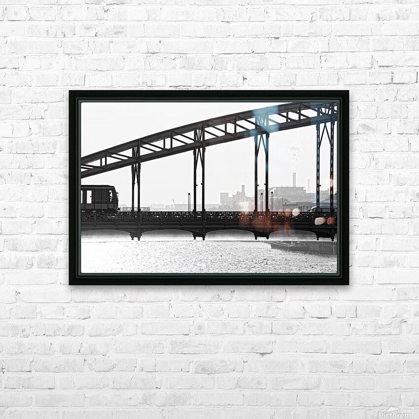 Austerlitz viaduct HD sublimation métal imprimé avec décoration flotteur cadre (boîte)