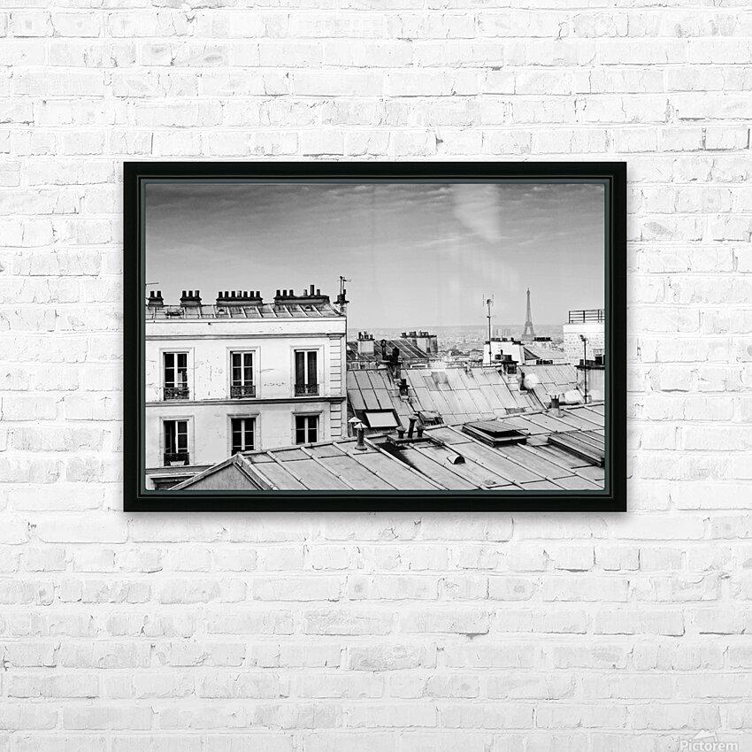 Roofs of Paris  HD sublimation métal imprimé avec décoration flotteur cadre (boîte)