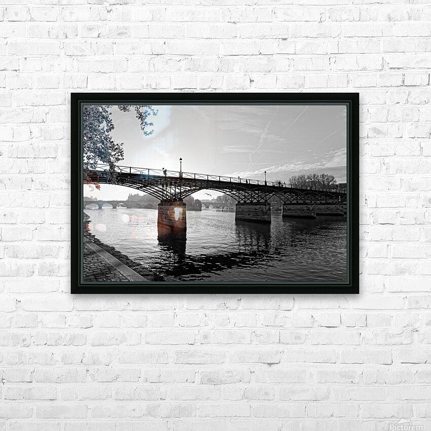 Pont des arts sunrise HD sublimation métal imprimé avec décoration flotteur cadre (boîte)