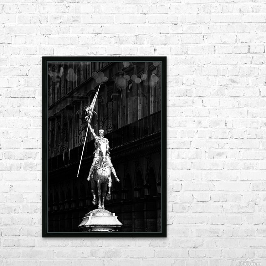 Joan of Arc statue  HD sublimation métal imprimé avec décoration flotteur cadre (boîte)