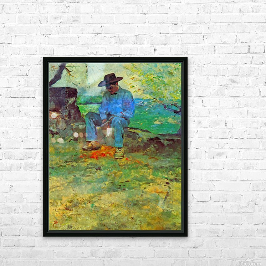 The Young Routy in Celeyran by Toulouse-Lautrec HD Sublimation Metal print with Decorating Float Frame (BOX)