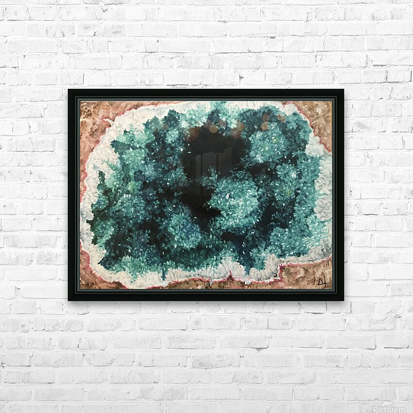 Green Geode HD Sublimation Metal print with Decorating Float Frame (BOX)