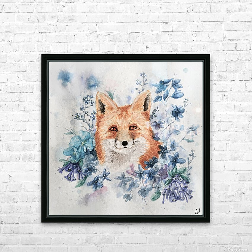 Fox HD Sublimation Metal print with Decorating Float Frame (BOX)