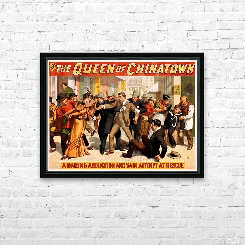 The Queen of Chinatown, 1899 HD Sublimation Metal print with Decorating Float Frame (BOX)