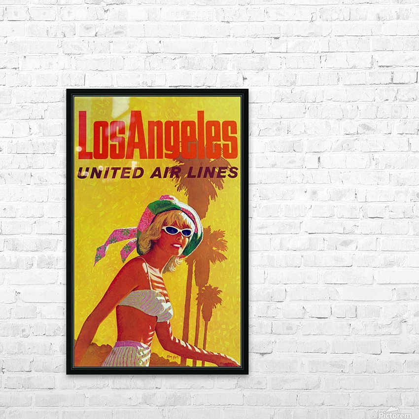 Los Angeles United Air Lines HD Sublimation Metal print with Decorating Float Frame (BOX)