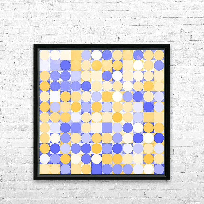 Geometric Art pattern HD Sublimation Metal print with Decorating Float Frame (BOX)