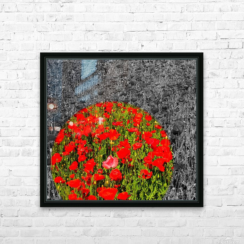 Poppy Popper Popping HD Sublimation Metal print with Decorating Float Frame (BOX)