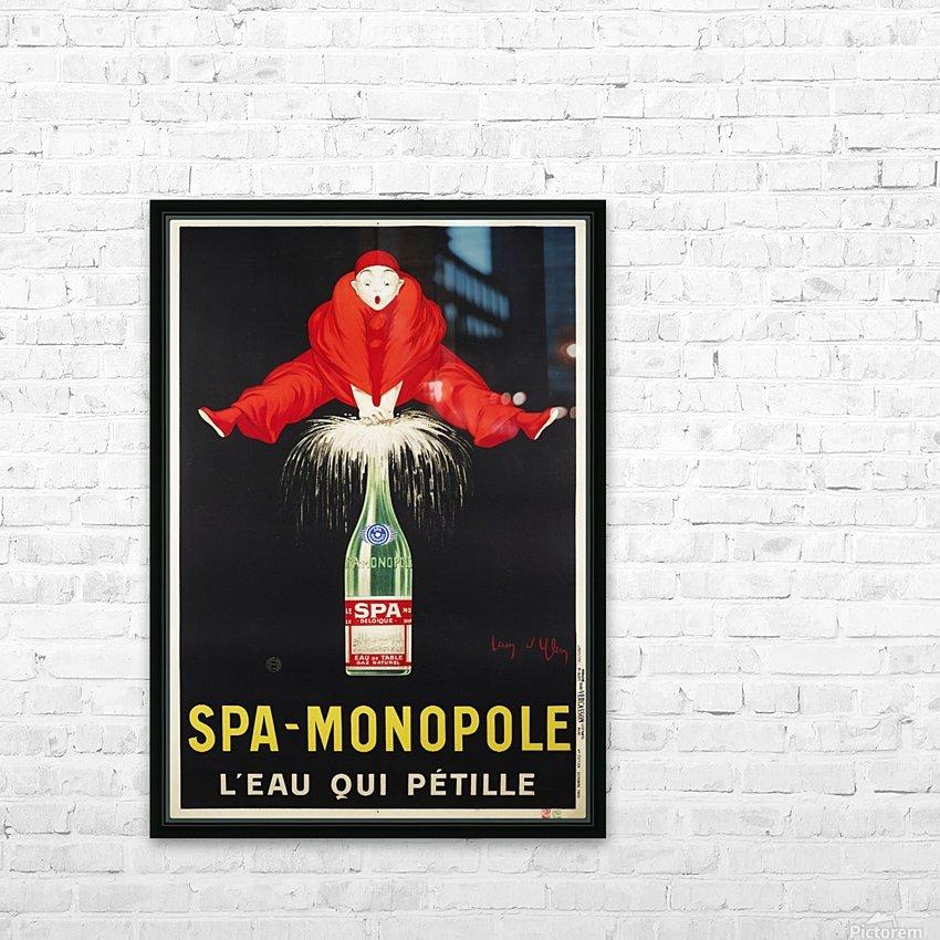 Spa-Monopole - Leau qui petille HD Sublimation Metal print with Decorating Float Frame (BOX)