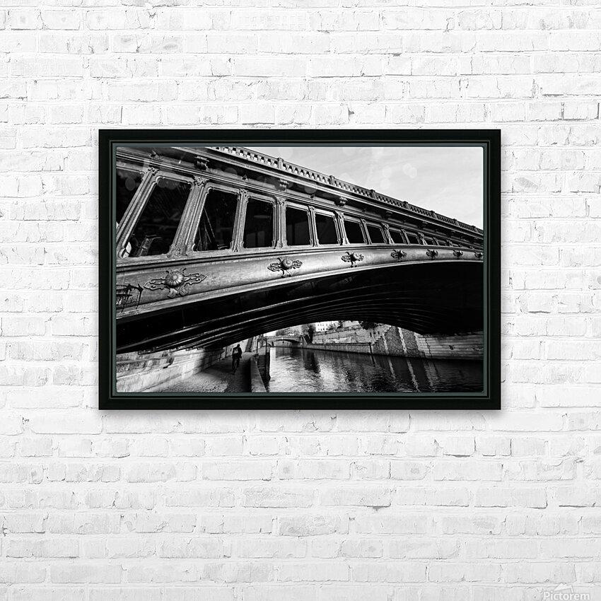 Pont au Double HD sublimation métal imprimé avec décoration flotteur cadre (boîte)