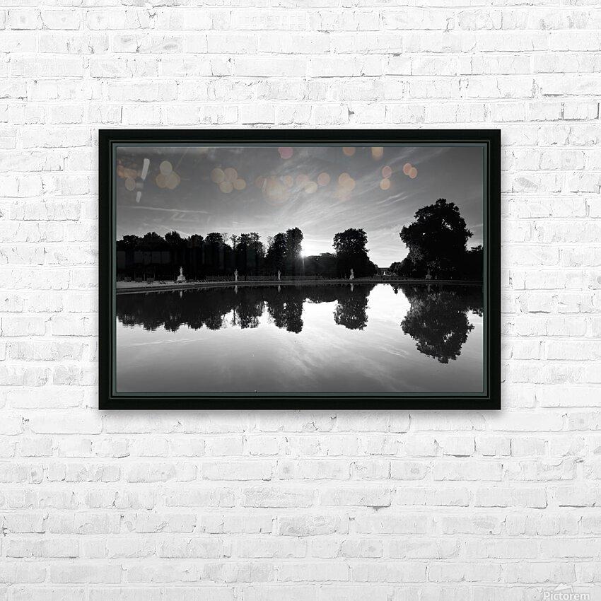 Tuileries reflection HD sublimation métal imprimé avec décoration flotteur cadre (boîte)